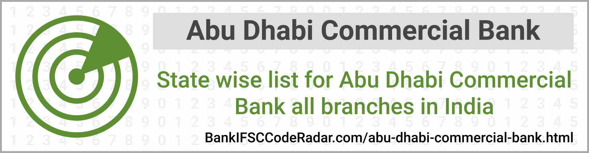 Abu Dhabi Commercial Bank All Branches India