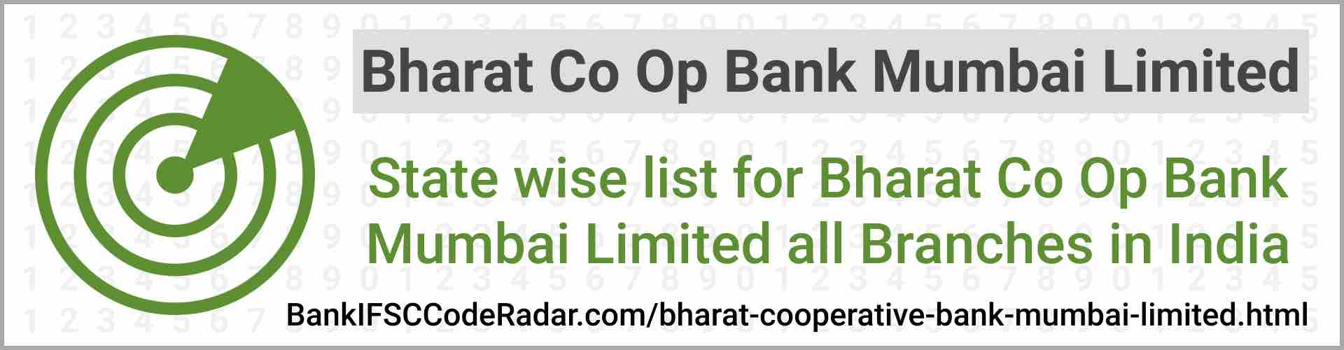 Bharat Cooperative Bank Mumbai Limited All Branches India