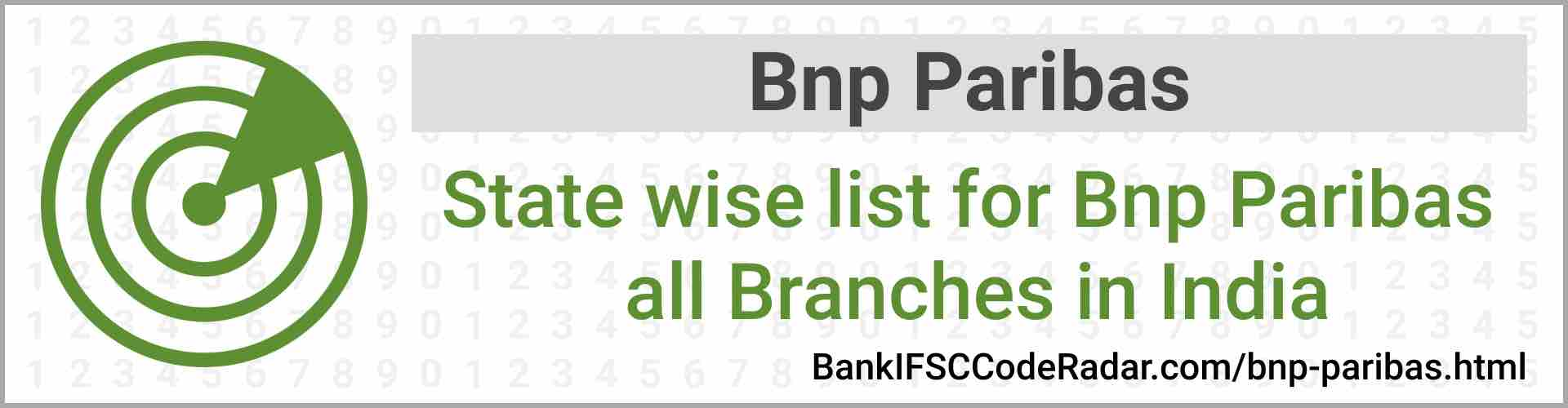 Bnp Paribas All Branches India