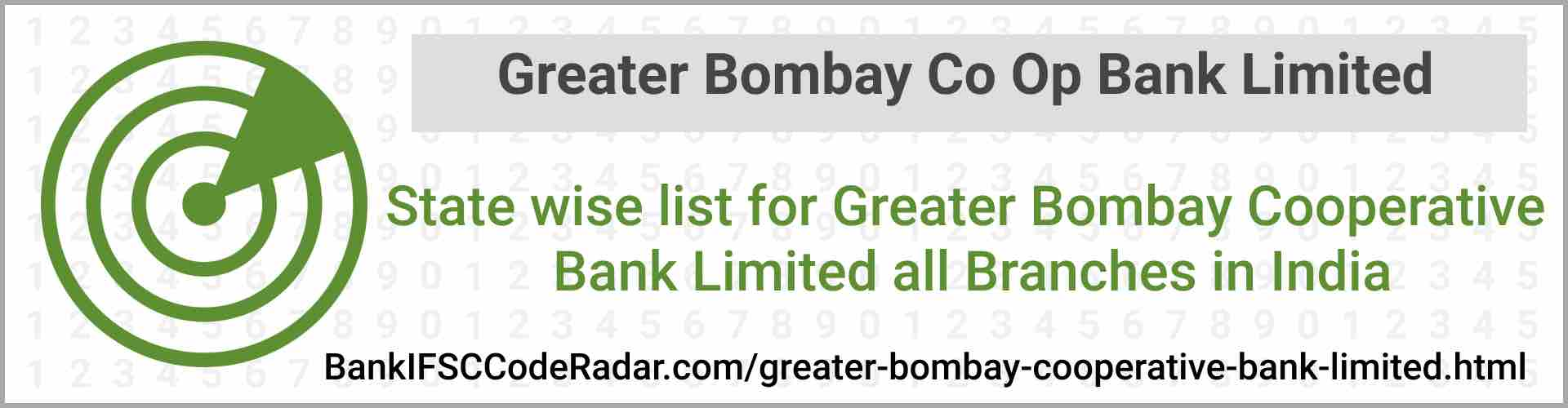 Greater Bombay Cooperative Bank Limited All Branches India