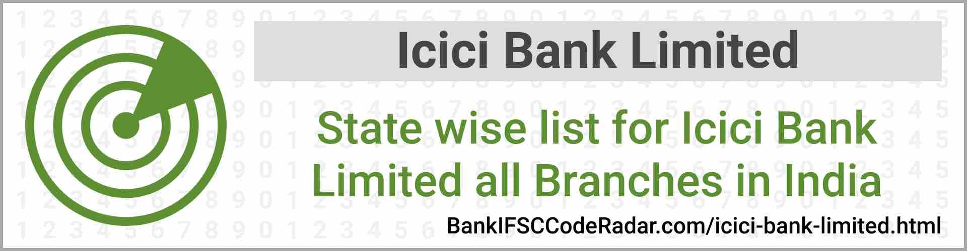 Icici Bank Limited All Branches India