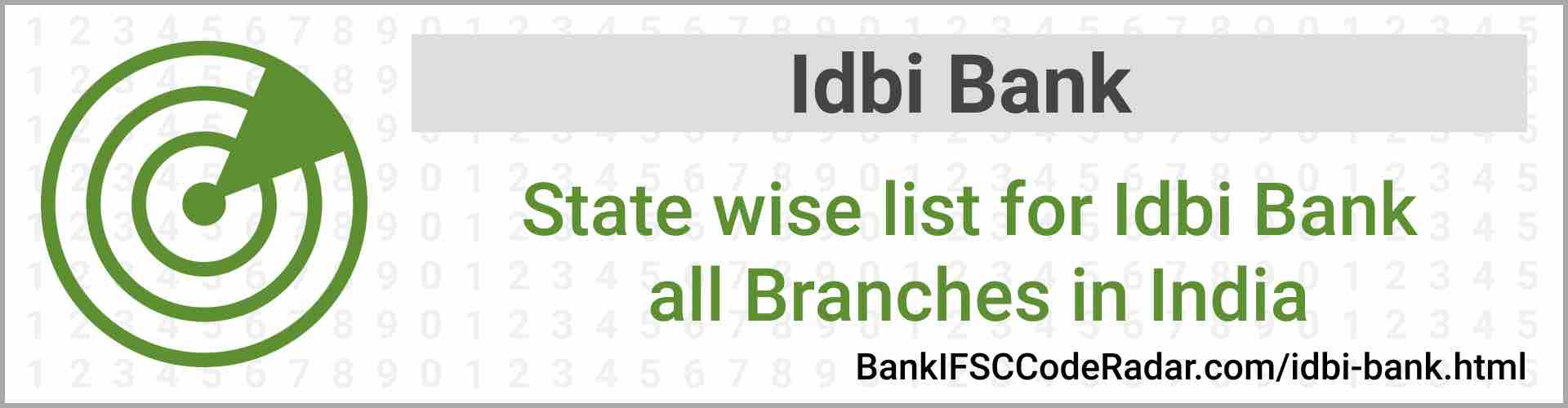 Idbi Bank All Branches India