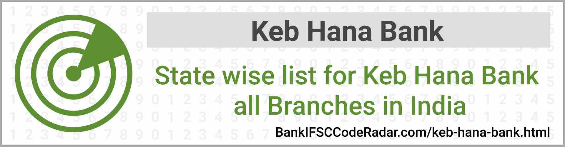 Keb Hana Bank All Branches India
