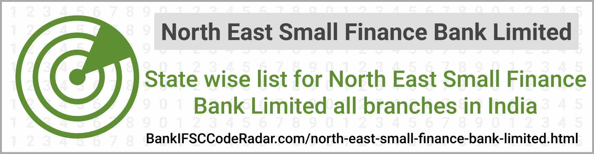 North East Small Finance Bank Limited All Branches India