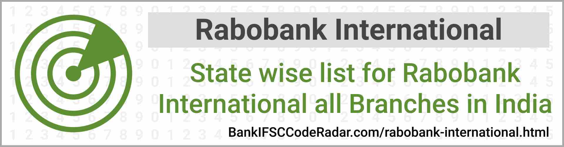 Rabobank International All Branches India