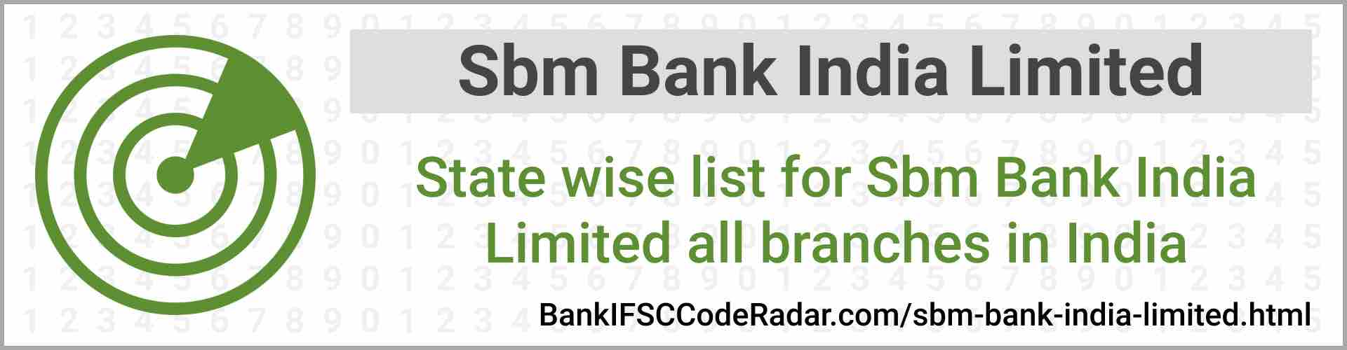 Sbm Bank India Limited All Branches India