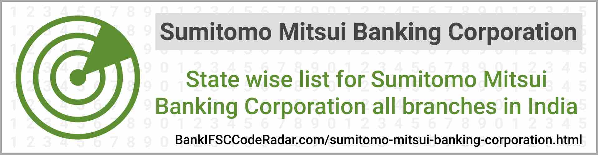 Sumitomo Mitsui Banking Corporation All Branches India