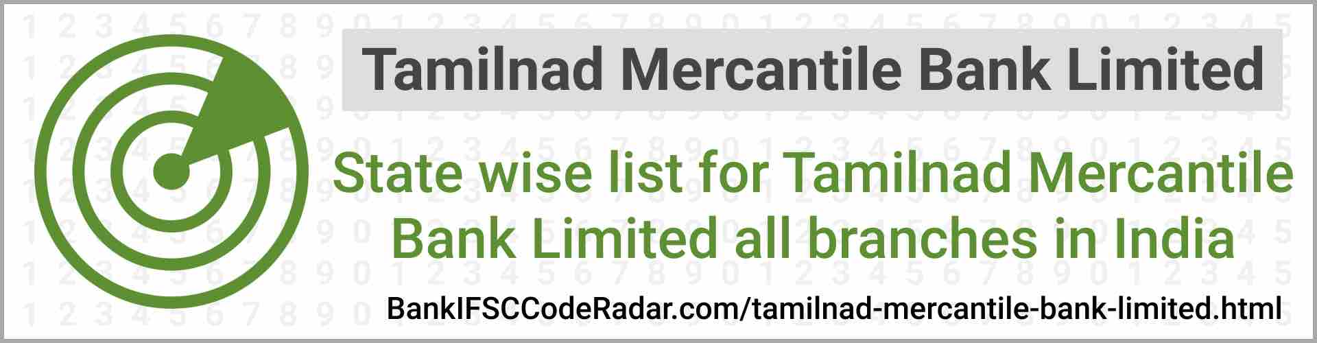 Tamilnad Mercantile Bank Limited All Branches India
