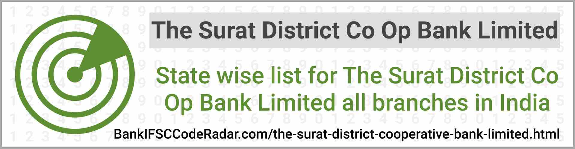 The Surat District Cooperative Bank Limited All Branches India