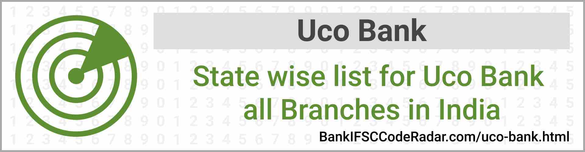 Uco Bank All Branches India